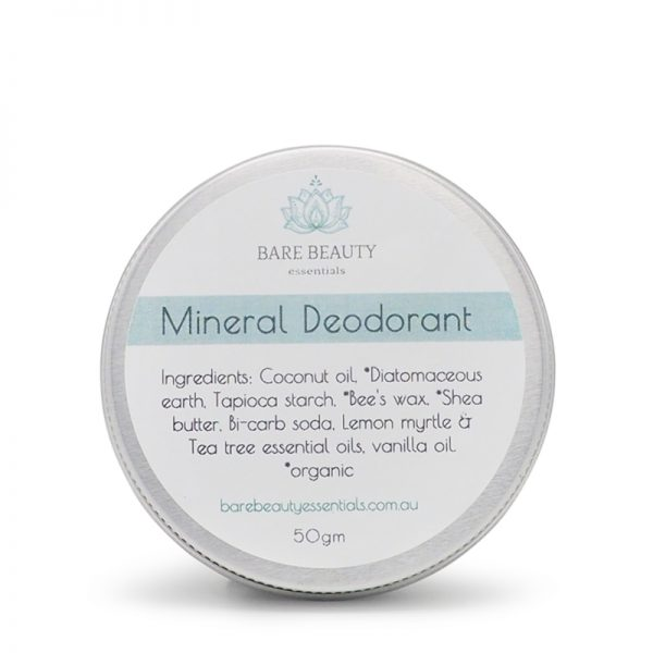 mineral deodorant, natural deodorant, deodorant paste, travel tin, tea tree, lemon myrtle, deodorant,