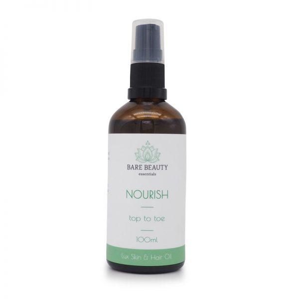 noursih, body oil, hair oil, face oil, hemp poil, top to toe oil, skin oil, moisturiser, after sun care