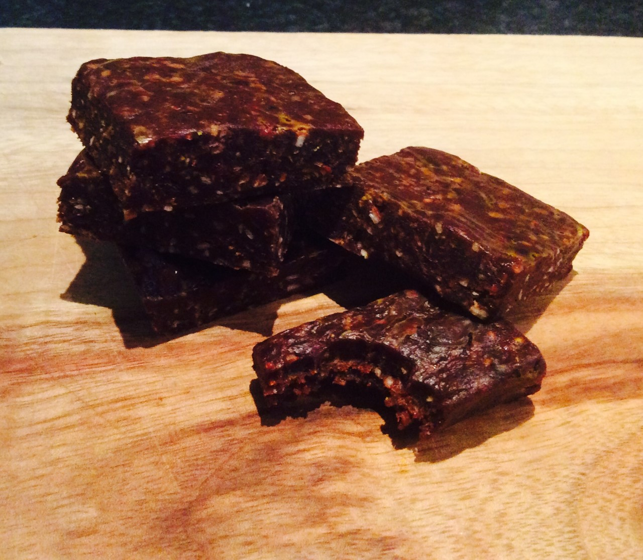 Super easy antioxidant rich Choc Berry 'Lamington' squares