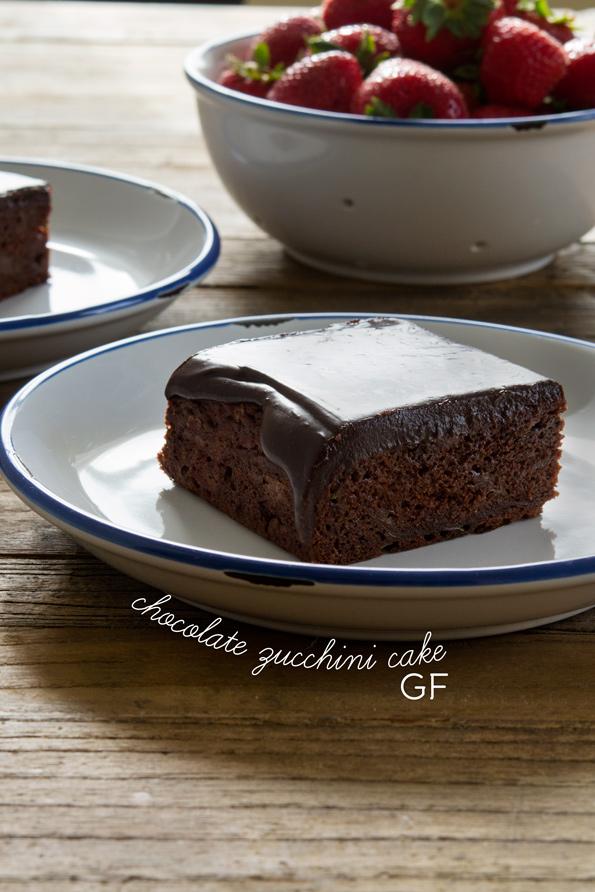 GF Moist Chocolate & Zucchini Cake