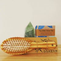 Bamboo Hairbrush & Shampoo Bar Duo