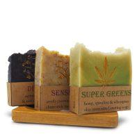 Soap Trio & Bamboo Soap Holder