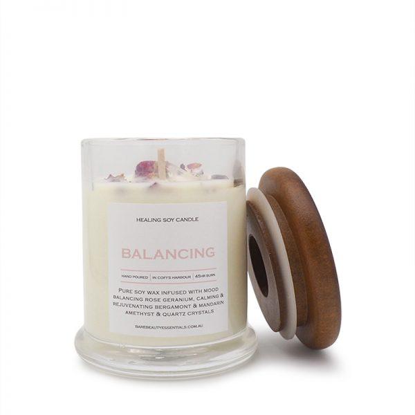 Balancing healing candle